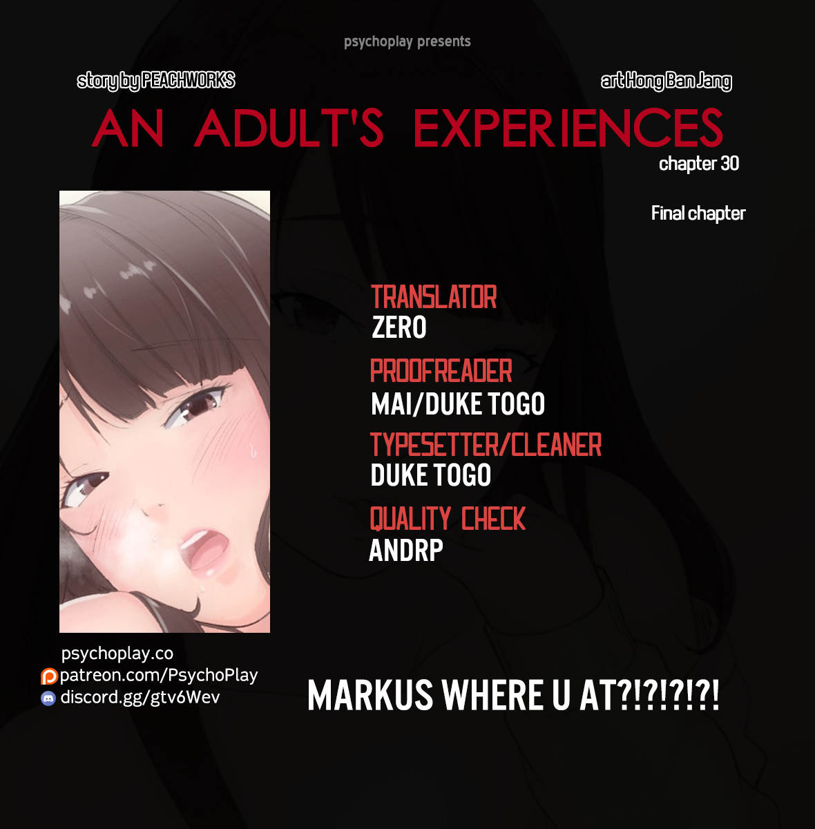An Adult's Experiences ch.30