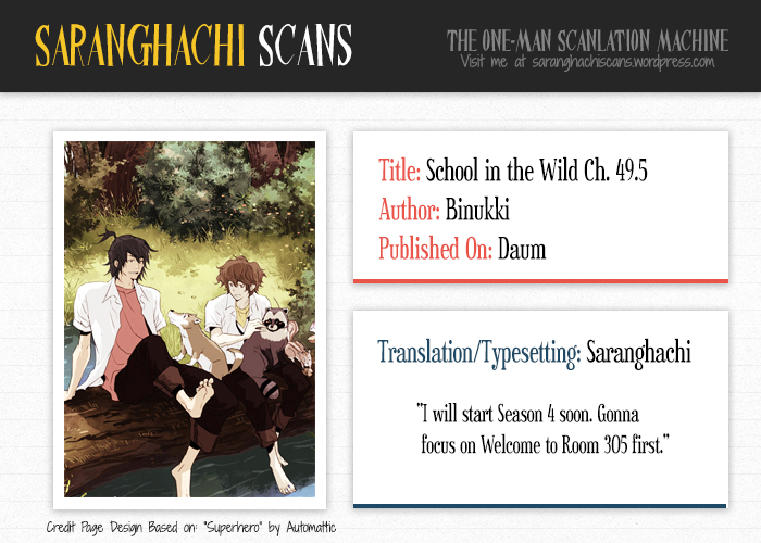 School in the Wild Vol. 3 Ch. 49.5 Season 3 Author Notes
