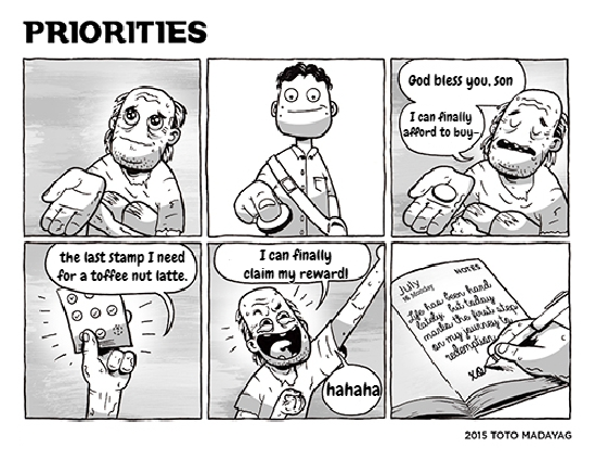 Short Filipino Komix Ch. 7 Priorities (uncolored)