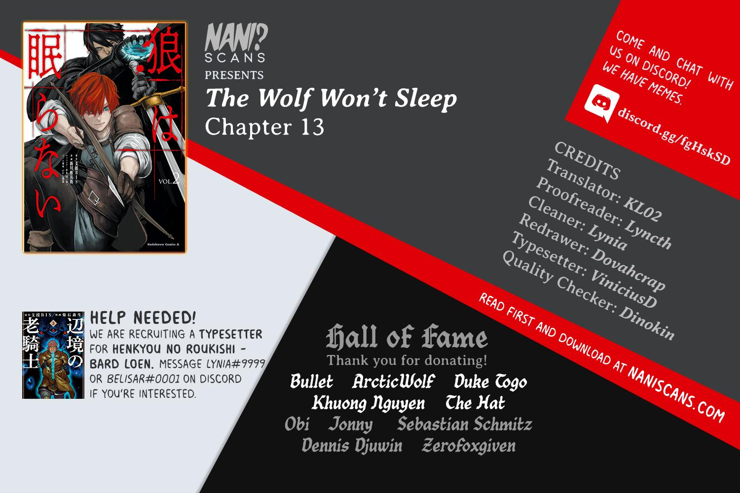 The Wolf Won't Sleep Chapter 13