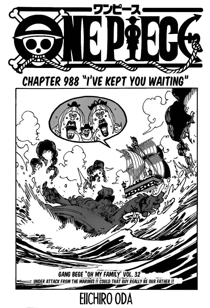 One Piece Ch. 988 I've Kept You Waiting