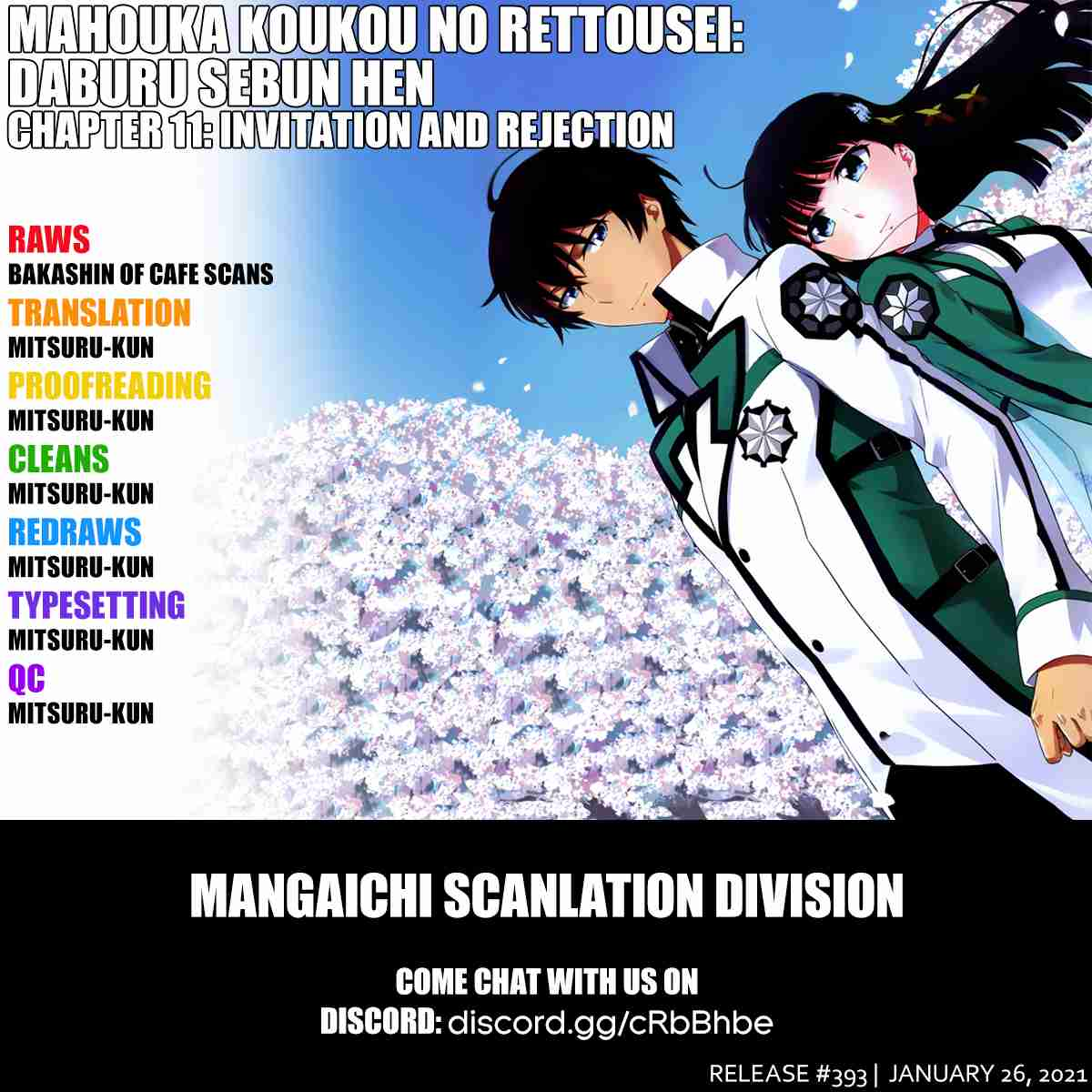 Mahouka Koukou no Rettousei Double Seven hen Vol. 2 Ch. 11 Invitation and Rejection